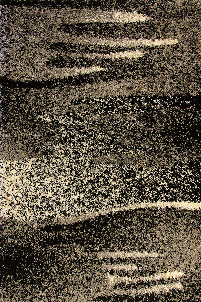 Monochromatic Abstract Shaggy Rugs - Modern Interior Design Style - Australia