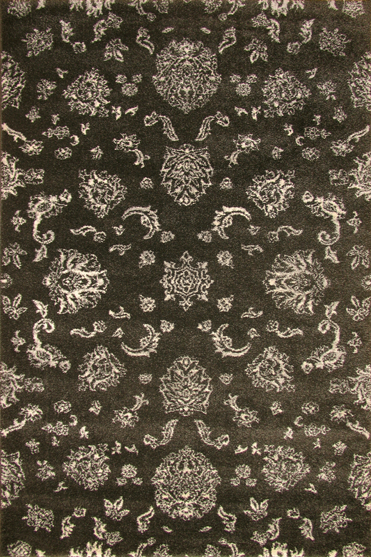 Brown Grey Floral rugs - Sophisticated Soft Pile - Contemporary Classic Interior Design Style - Australia