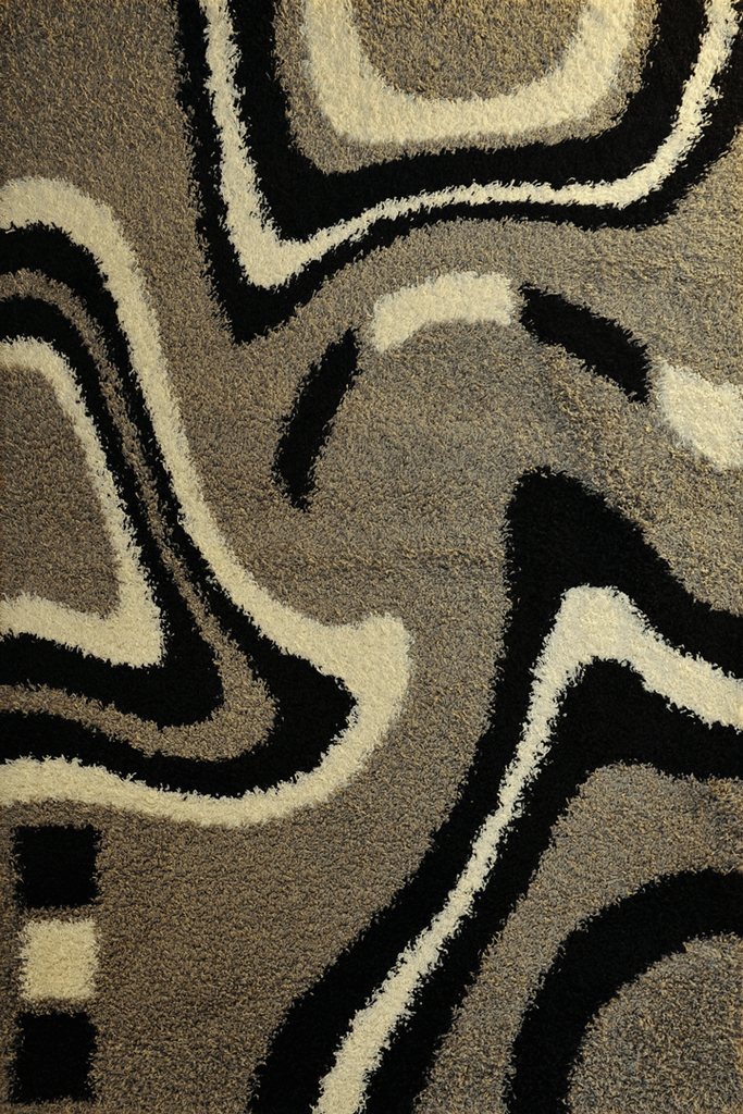 Grey Abstract Shaggy Rugs - Modern Interior Design Style  - Australia