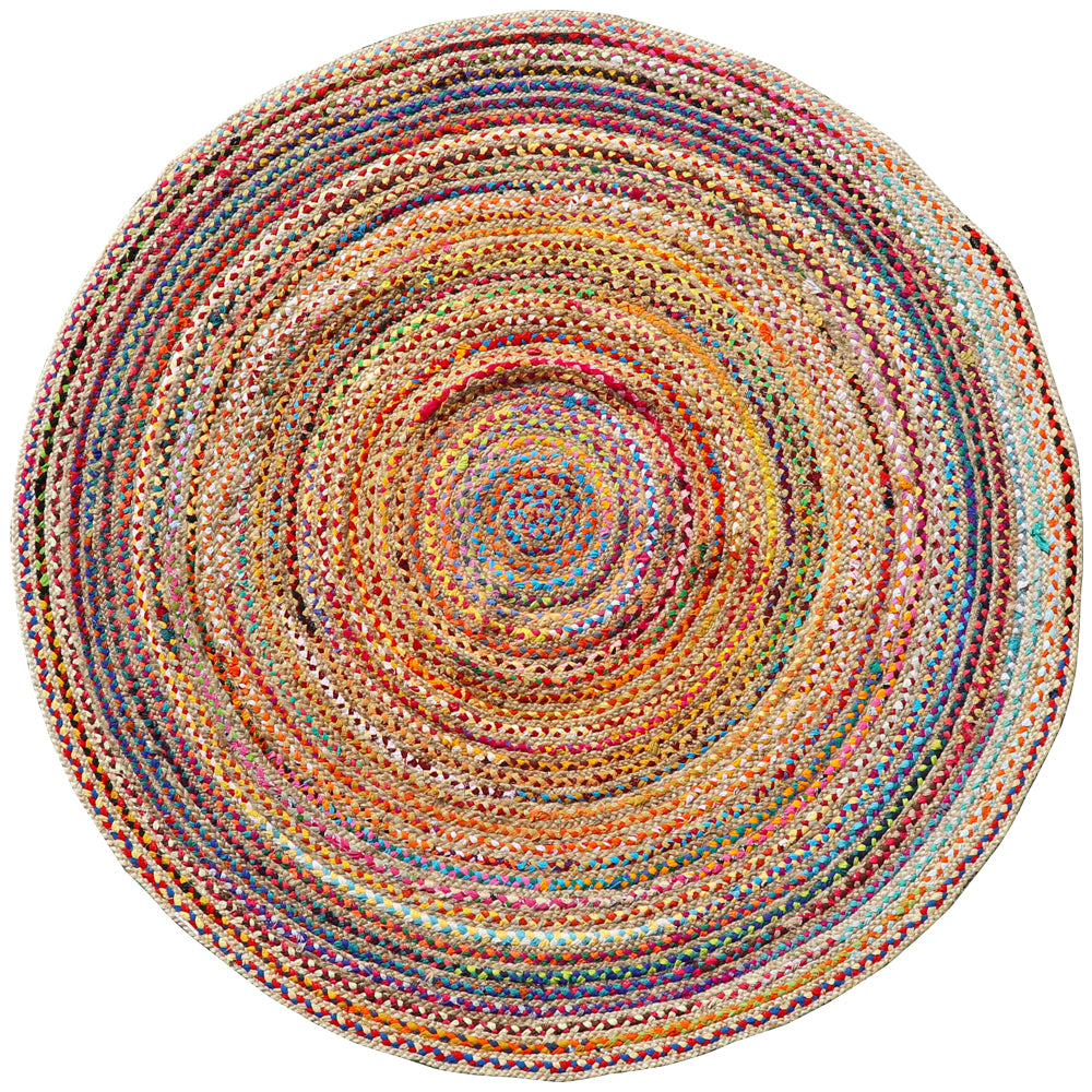Pandora Round Chindi & Jute Braid Rugs