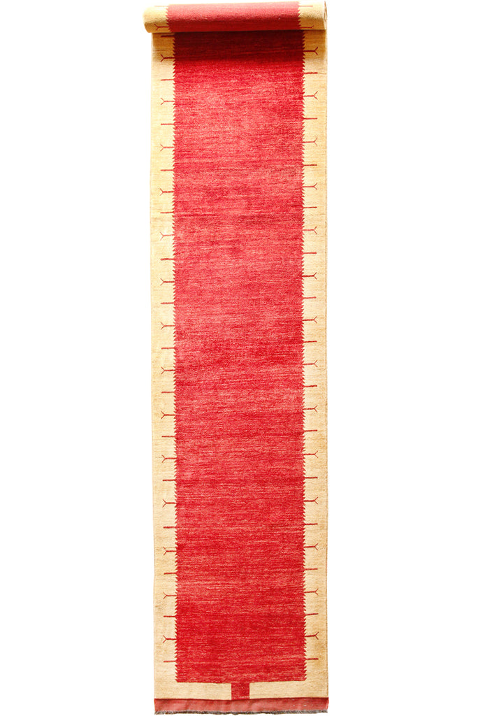 Gabbeh Hand Knotted Wool Runner 600x123cm