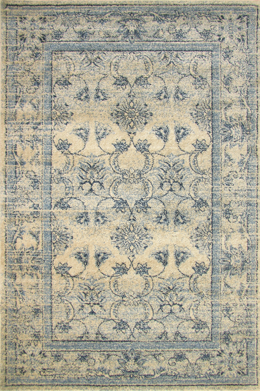 Blue Floral rugs - Sophisticated Soft Pile - Contemporary Classic Interior Design Style - Australia