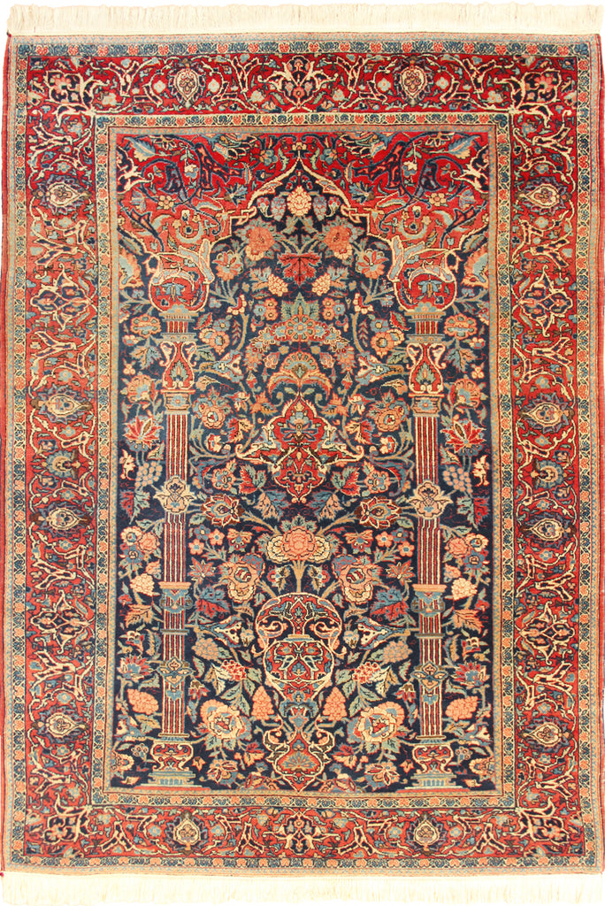 Kashan Dabir Hand-Knotted Wool Rug - 208x133 cms