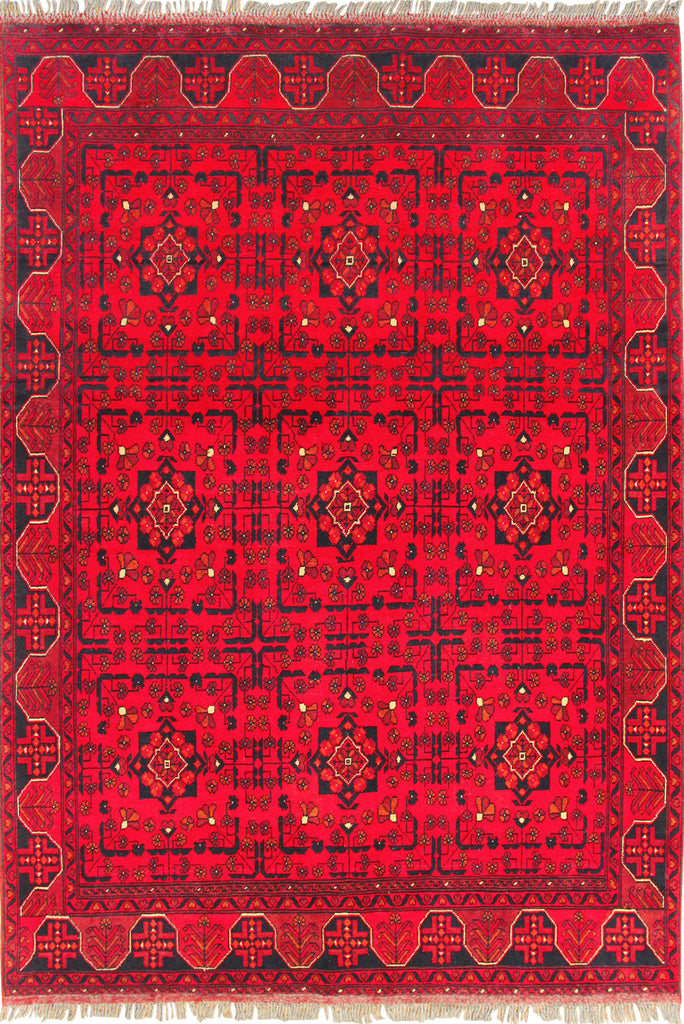 Khan Mohammadi Hand Knotted  Wool Rug 196x153cm