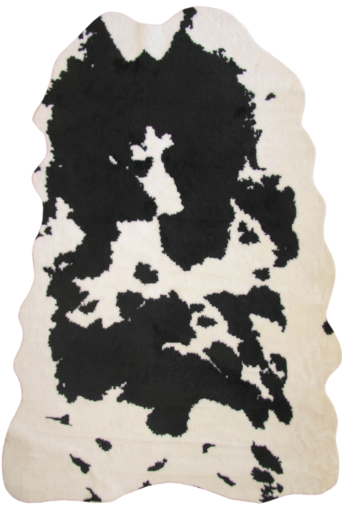 Faux Black + White Cow Hide - Interior Design Style - Australia