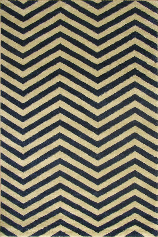 White Blue Chevron Stripe rugs - Sophisticated Soft Pile - Contemporary Classic Interior Design Style - Australia