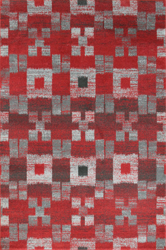 Red rugs - Modern Square Abstract Contemporary Interior Design Style - Australia