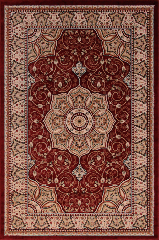 Red Floral Medallion rugs - Traditional Classic Interior Design Style - Australia