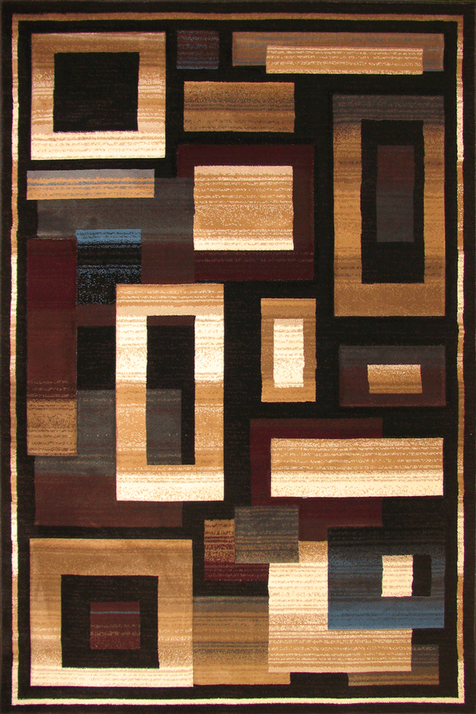 Pisa Contemporary Square Pattern Rug