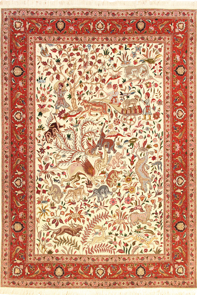 Tabriz Medallion Hand Knotted Wool Rug 205x150cm