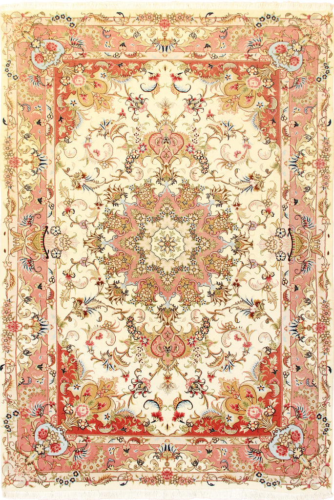 Tabriz Medallion Hand Knotted Wool Rug 207x150cm