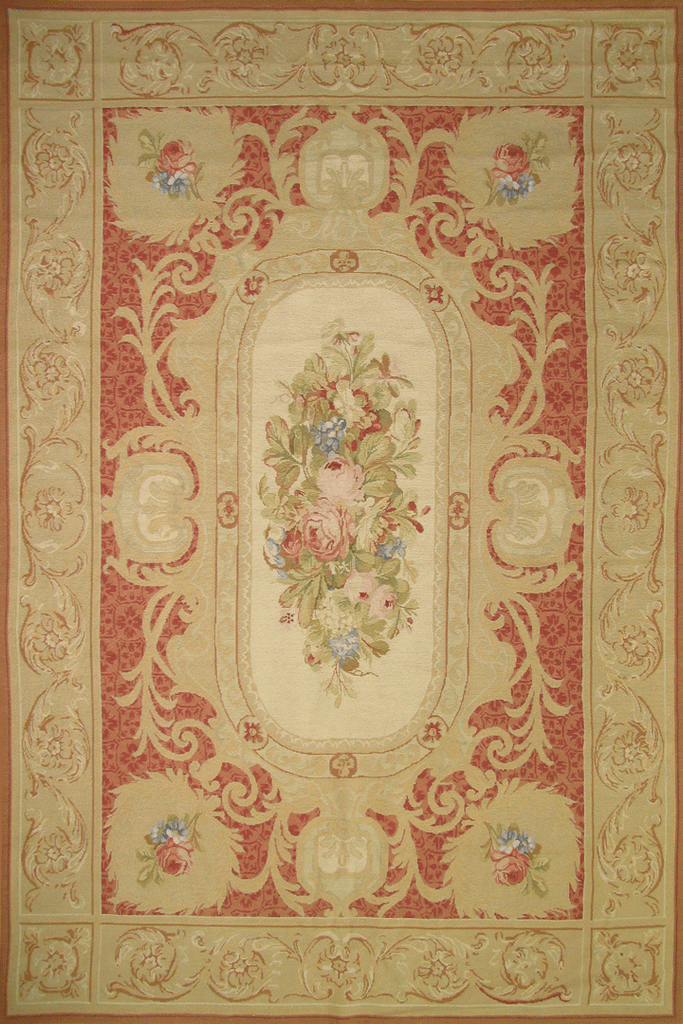 Tibetan Floral Tapestry Hand Knotted Wool Rug