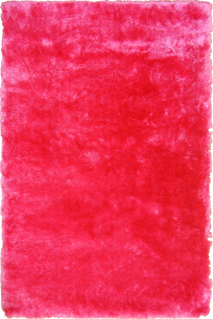 Fuschia Pink Shaggy Luxurious Plain Rug - Interior Design Style - Australia