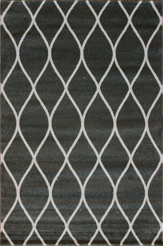 Black Grey White Diamond Patterned rugs - Modern Abstract Contemporary Interior Design Style - Australia