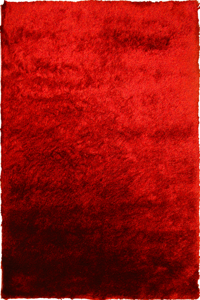 Red Orange Shaggy Luxurious Plain Rug - Interior Design Style - Australia
