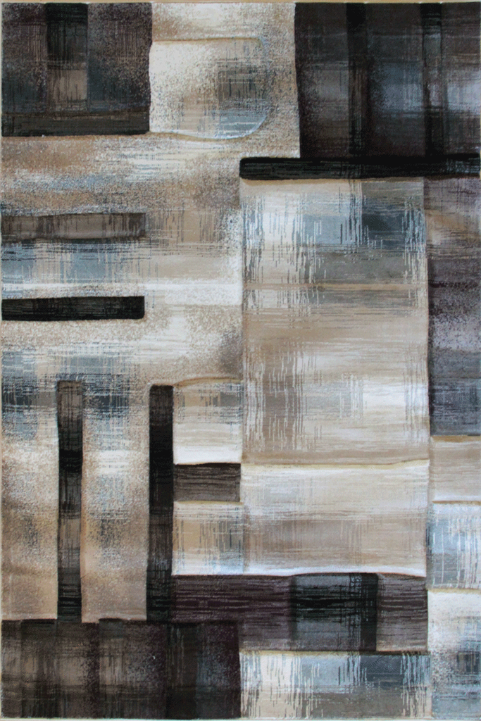 Pisa Contemporary Abstract Rug - Light Beige