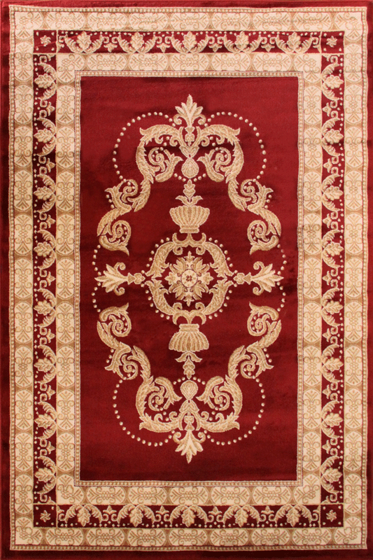 Red Medallion rugs - Traditional Classic Interior Design Style - Australia