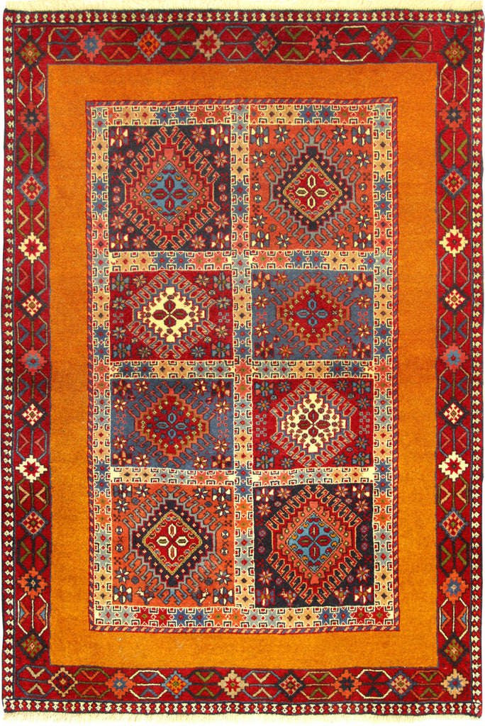 Yalameh Geometric Hand Knotted Wool Rug 151x103cm