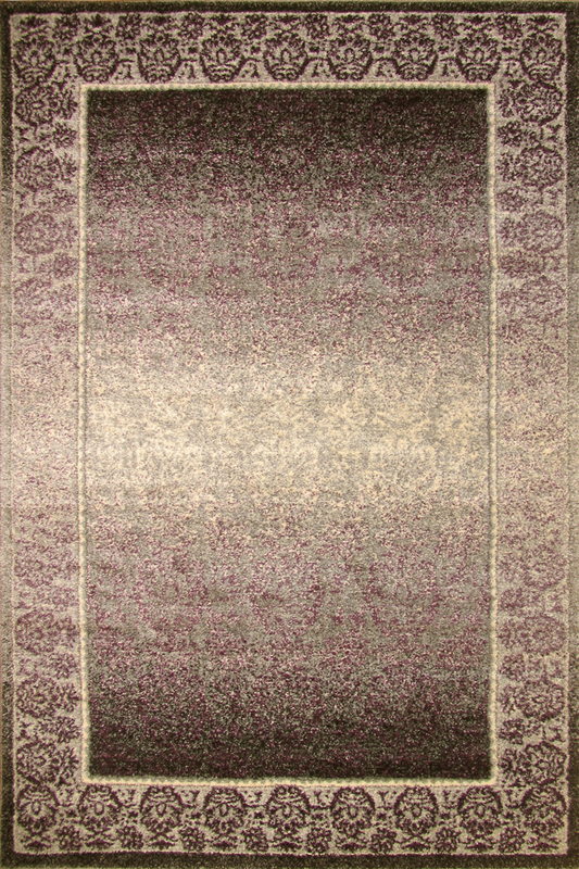Violet Purple Border rugs - Sophisticated Soft Pile - Contemporary Classic Interior Design Style - Australia