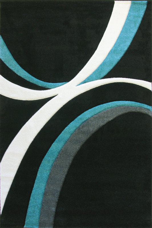 Black White rugs - Modern Abstract Contemporary Interior Design Style - Australia