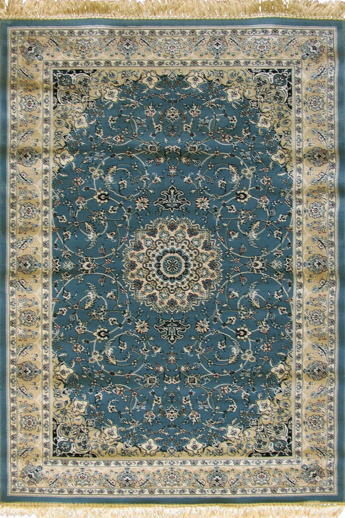 Blue Floral Medallion wool rugs - Traditional Contemporary Interior Design Style - Australia