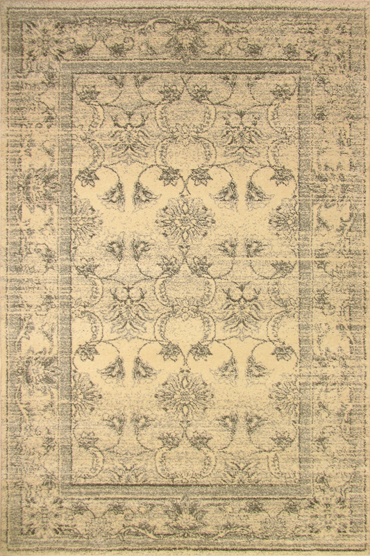 Tricolour Contemporary Floral Rug