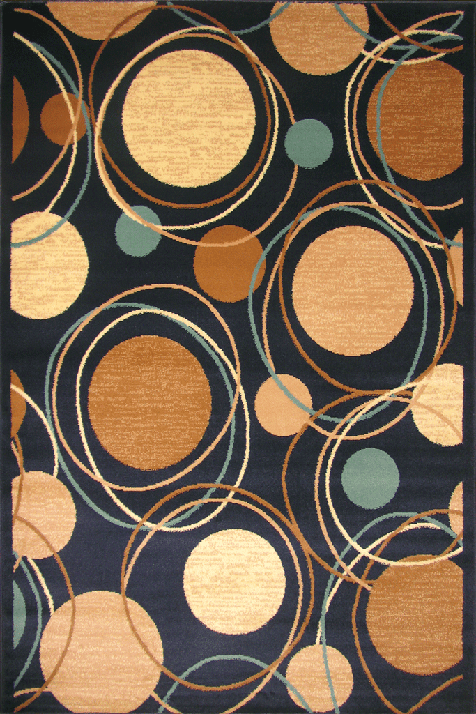 Hawaii Modern Circle Design Rug  2364 LM
