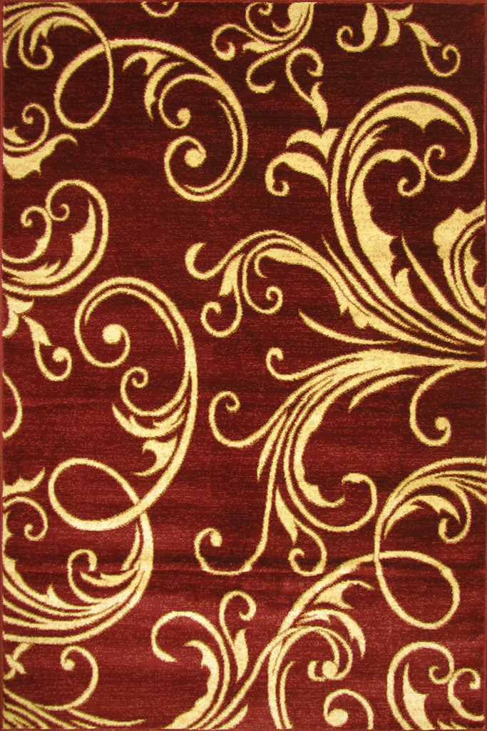 Hawaii Floral Rug  2366 Red