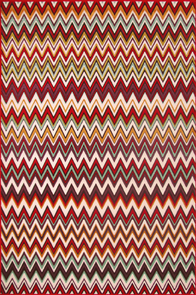 Infinity Contemporary Chevron Rug  4102X Brown D.Lilac