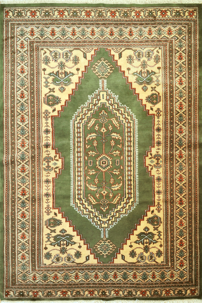 Princess Bokhara Hand Knotted Medallion Wool Rug