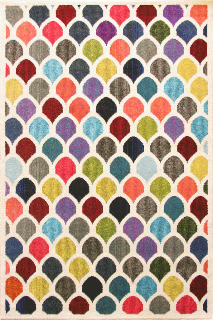 Kaleidoscope Contemporary Abstract Rug