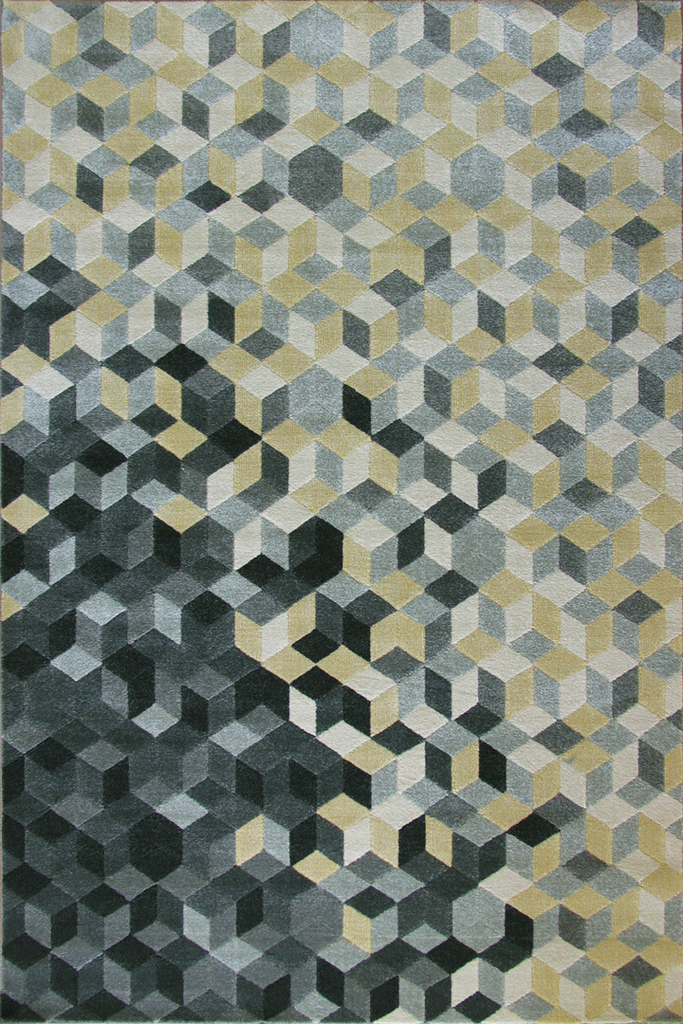 Rizzy Contemporary Geometric Rug - Cotton Silver