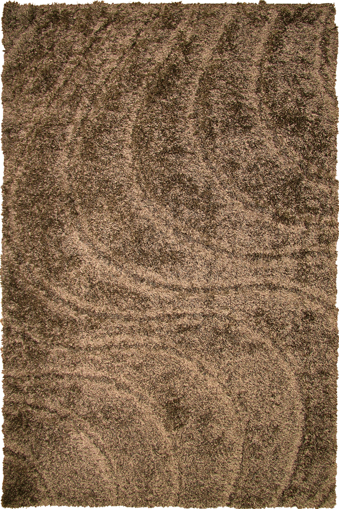 Brown Spiral Wavy Shaggy Luxurious Soft Pile Rug - Modern Interior Design Style - Australia