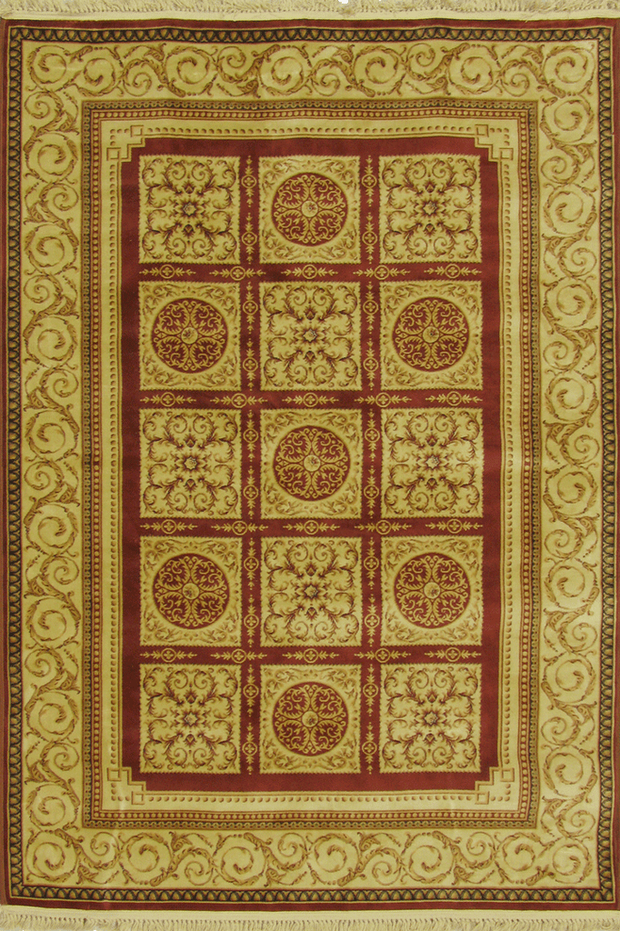 Mosaic Traditional Square Pattern Rug