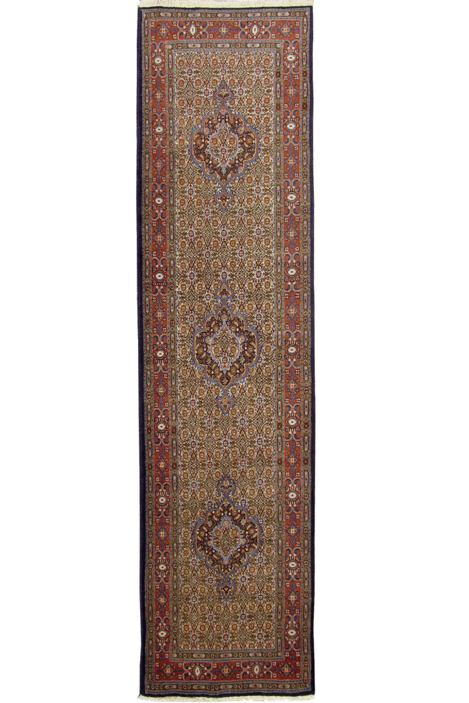 Moud Hand Knotted Wool Hallway Runner Rug
