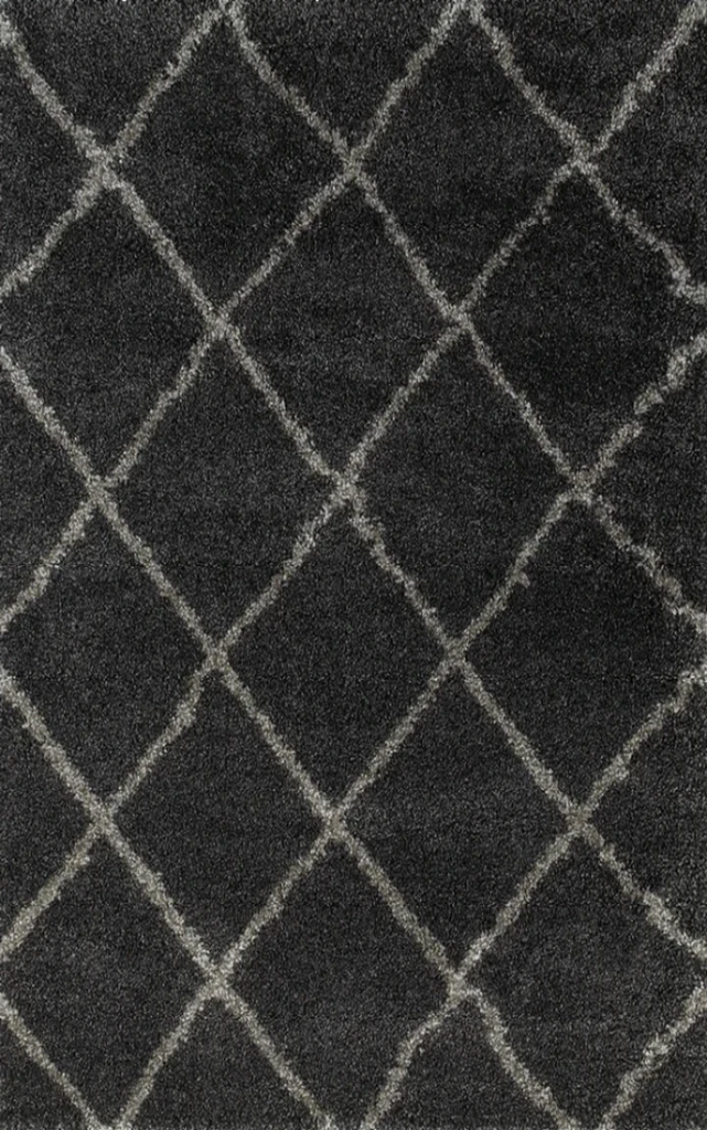 Coco Diamond Pattern Shaggy Rug