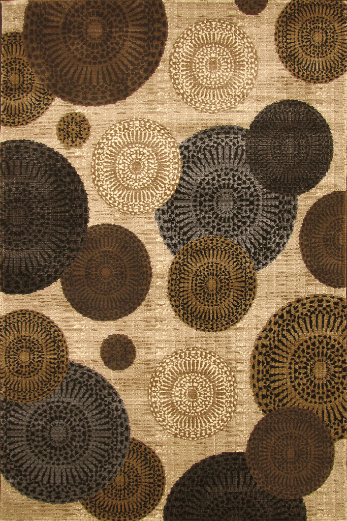 Alpi Contemporary Circle Design Rug