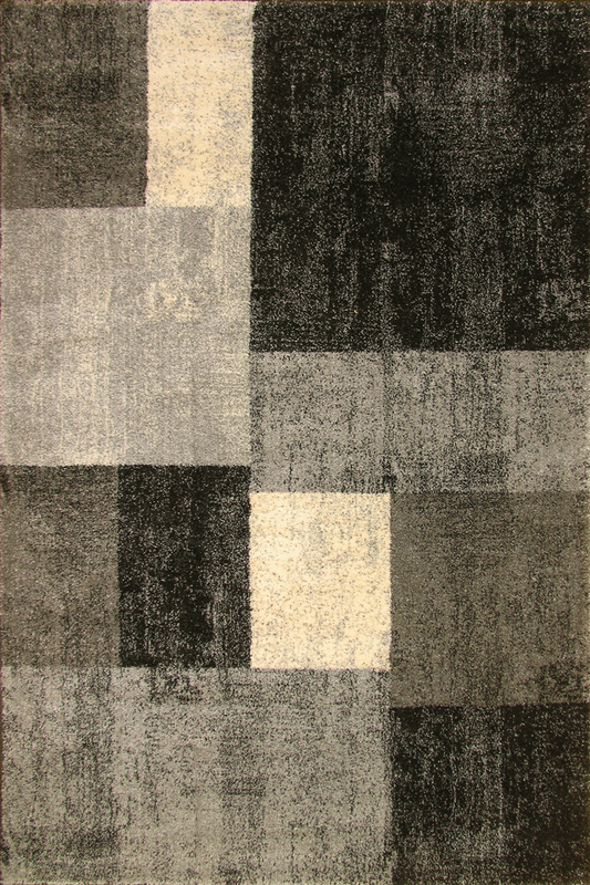 Monochromatic Grey Squared Patterned rugs - Sophisticated Soft Pile - Contemporary Classic Interior Design Style - Australia