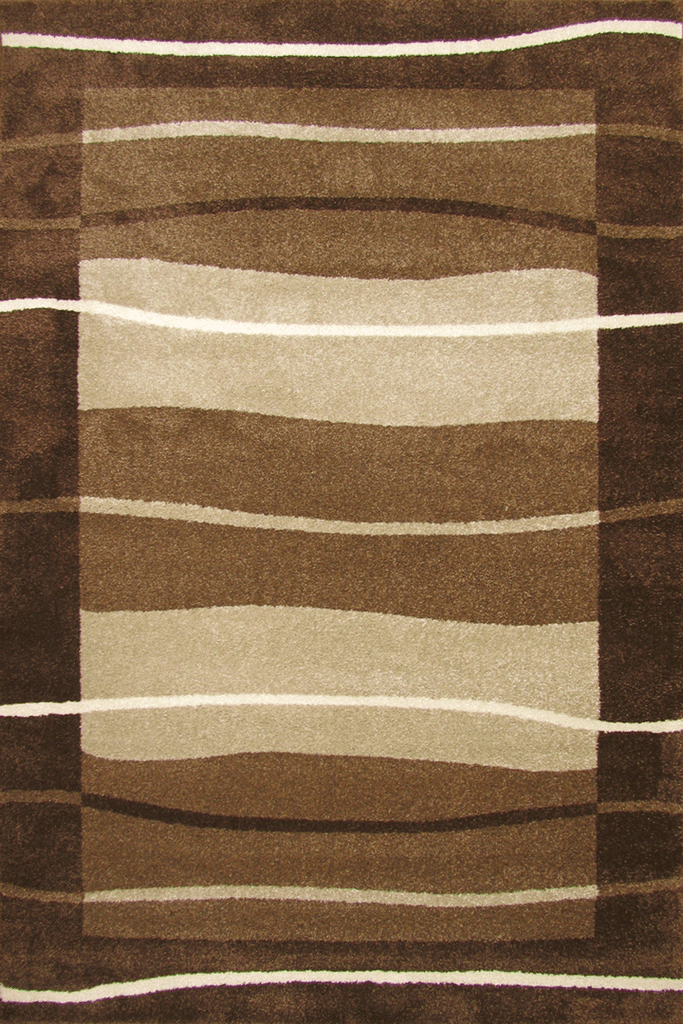 New York Modern Stripe Rug  32853 Brown Beige Cream
