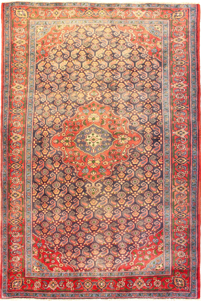 Hamedan - Persian Hand Knotted 100% Wool Rug - 206x140 cms
