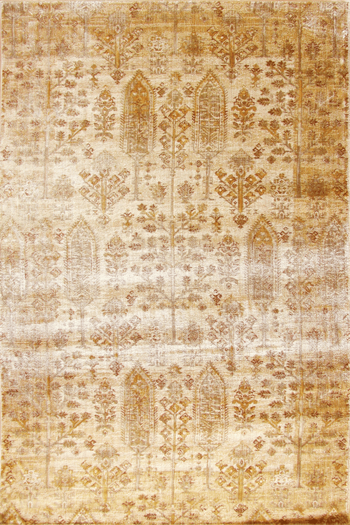 Preziosa Contemporary Floral Distressed Rug
