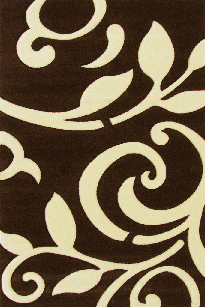 Paris Modern Floral Rug  5124 Brown