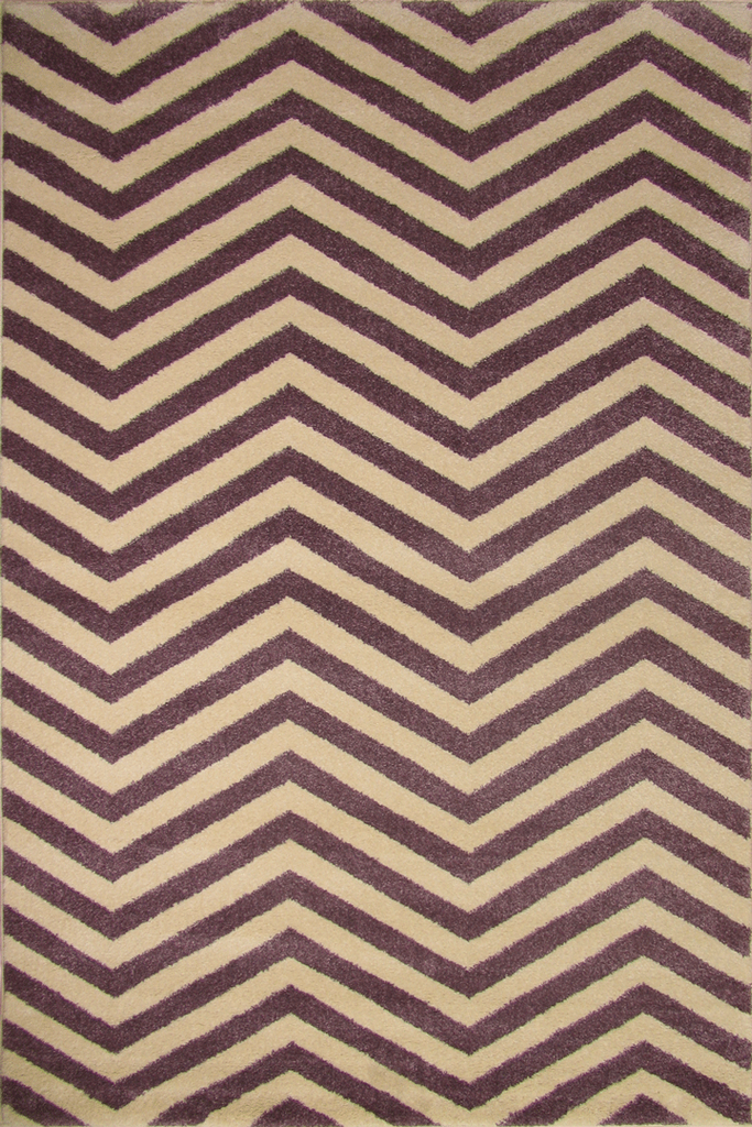 Violet White Chevron Stripe rugs - Sophisticated Soft Pile - Contemporary Classic Interior Design Style - Australia