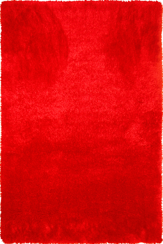 Red Plain Shaggy Luxurious Rug - Retro Style - Australia