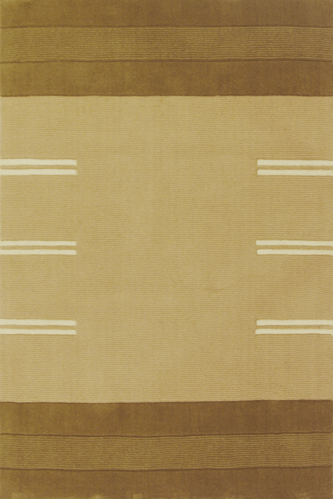 Sahand Wool Modern Stripe Rug  955 Beige Brown