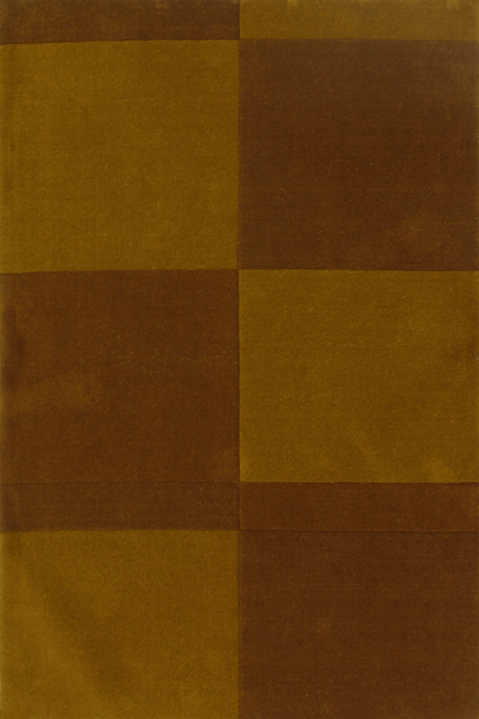 Sahand Wool Modern Square Pattern Rug  972 Brown