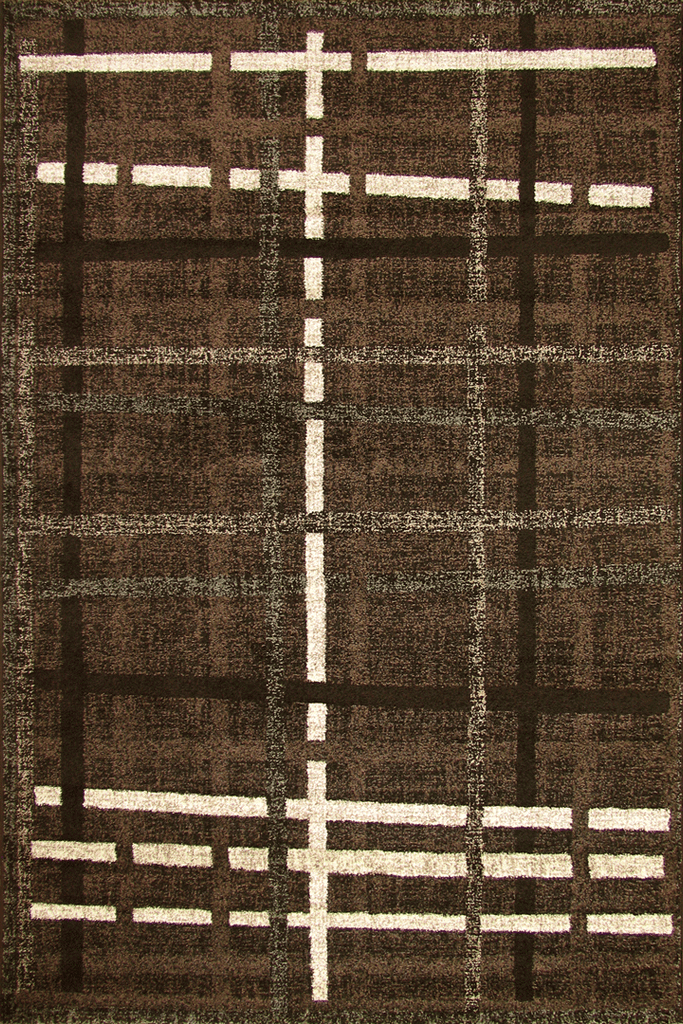 Ayers Rock Contemporary Stripe Rug 06370B Y. Kahve Kahve