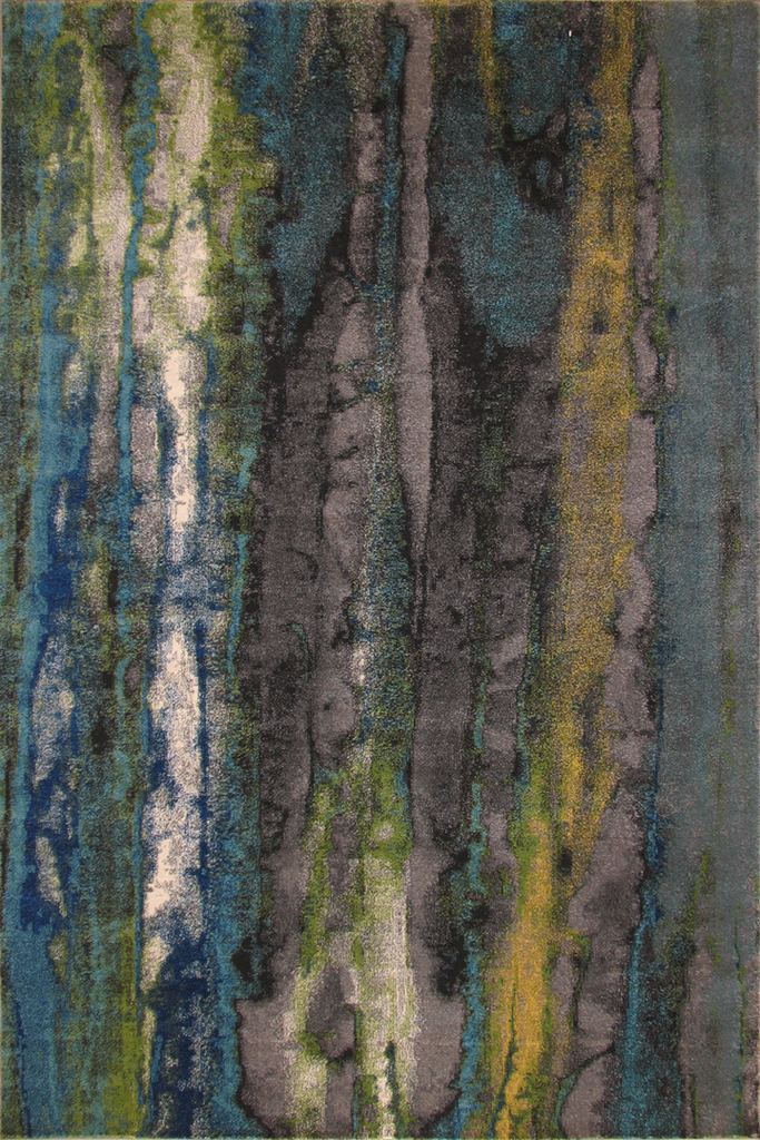 Rizzy Contemporary Abstract Rug - Turquoise Multi