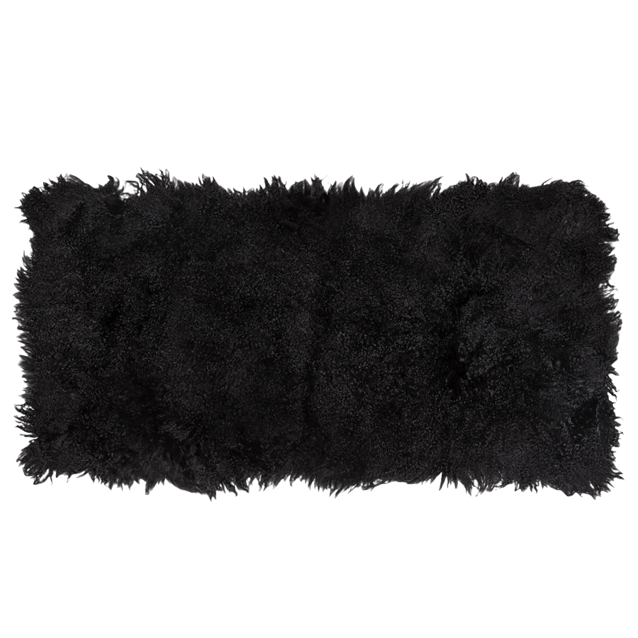 Sheepskin Plate Black-Bed Linen-Canvas Home Interiors Australia