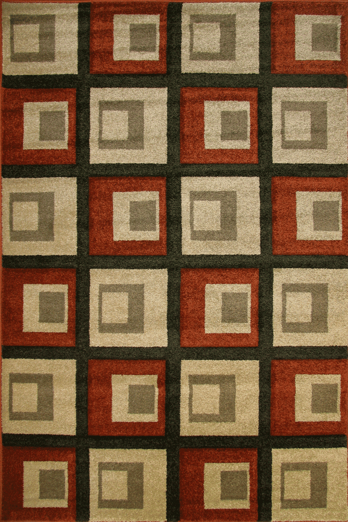 Space Modern Square Pattern Rug  1447-S81E